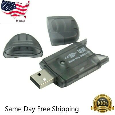 Portable MMC SD SDHC TF Card Memory Card Reader to USB 2.0 Adapter With Light US
