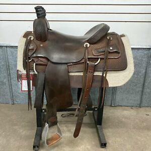 "16.5"" Vinton Ranch Cutting Saddle"