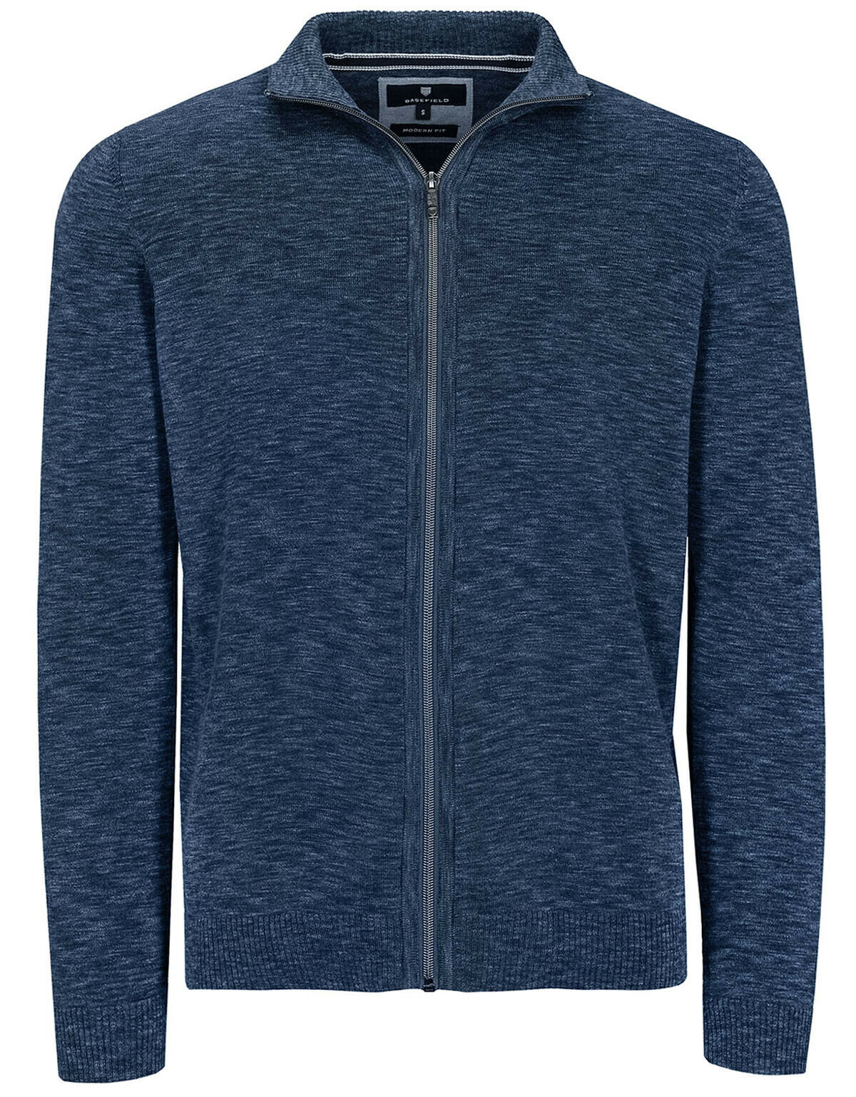 Basefield Zip Troyer Strickjacke - Blau Navy