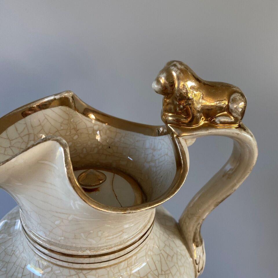 Porcelæn, Løvekande , Antik