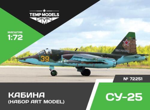 Tempmodels 1//72 Su-25 cockpit set for Art Model #72251