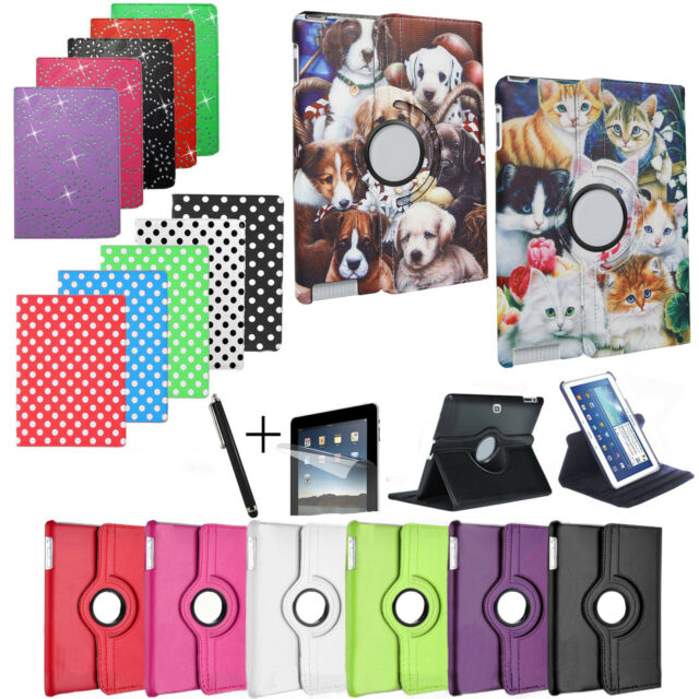 For SAMSUNG TABLETS - Smart Stand Leather Magnetic Case Cover with Sleep/Wake