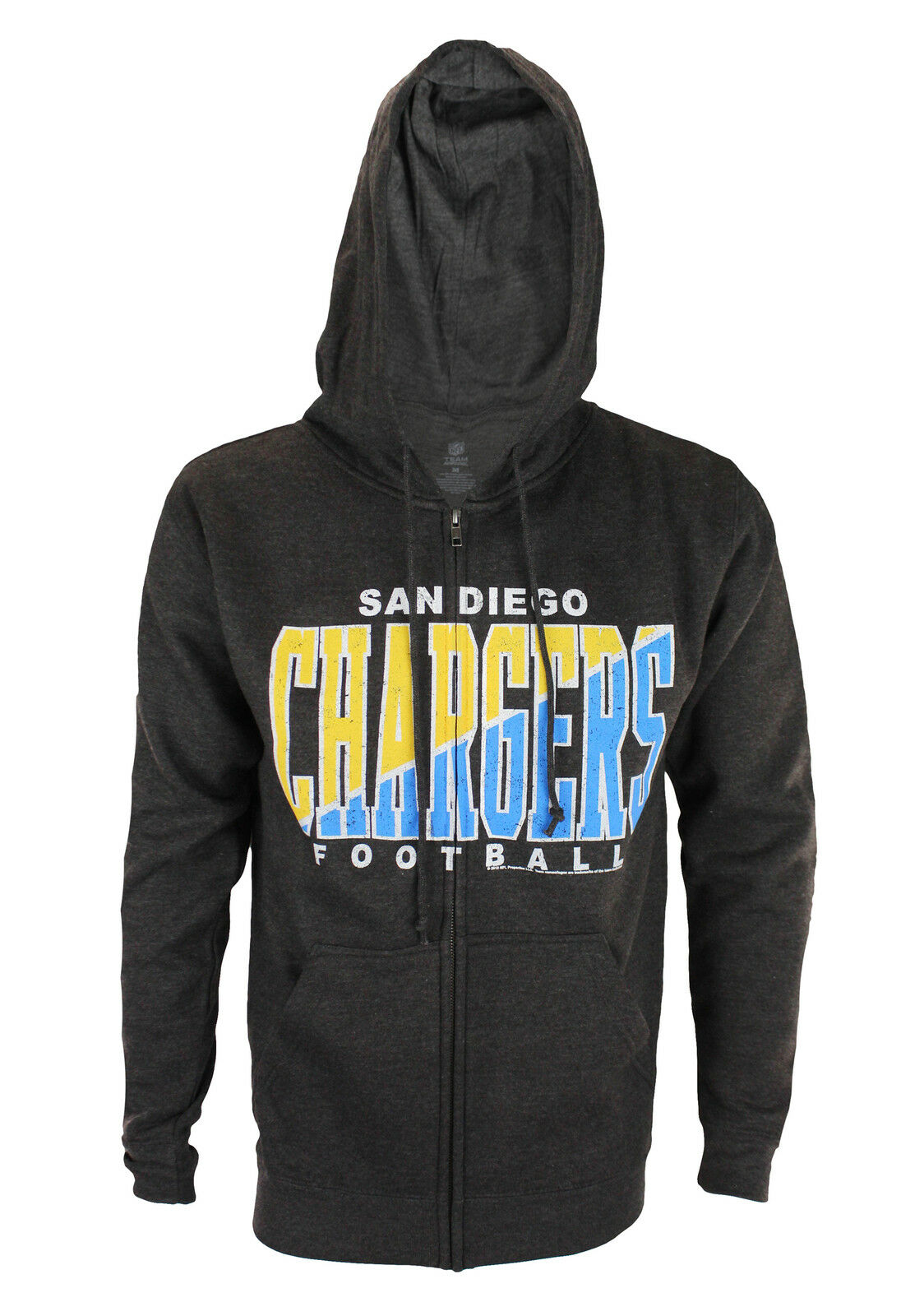 San Diego Chargers NFL Football  Herren Split Formation Fleece Hoodie, grau