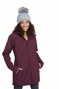 Mountain Warehouse Womens Water Resistant Softshell Jacket Faux Fur Lined Coat