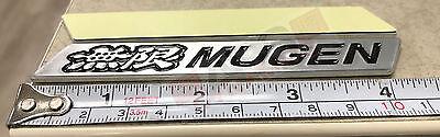 Sliver Aluminum RED Style Mugen Badge Sticker Badge Decal 11cm x 2.5cm 2PCS