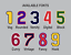 thumbnail 8 - Tackle Twill Pro Cut Baseball Number Pair Team Uniform Jersey Patches Not Sewn
