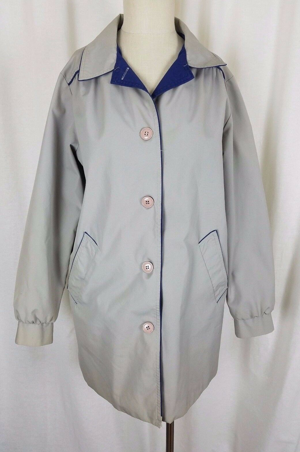 Vintage Sears Mid Century Mod All Weather Windbreaker Trench Coat Womens 14 50s