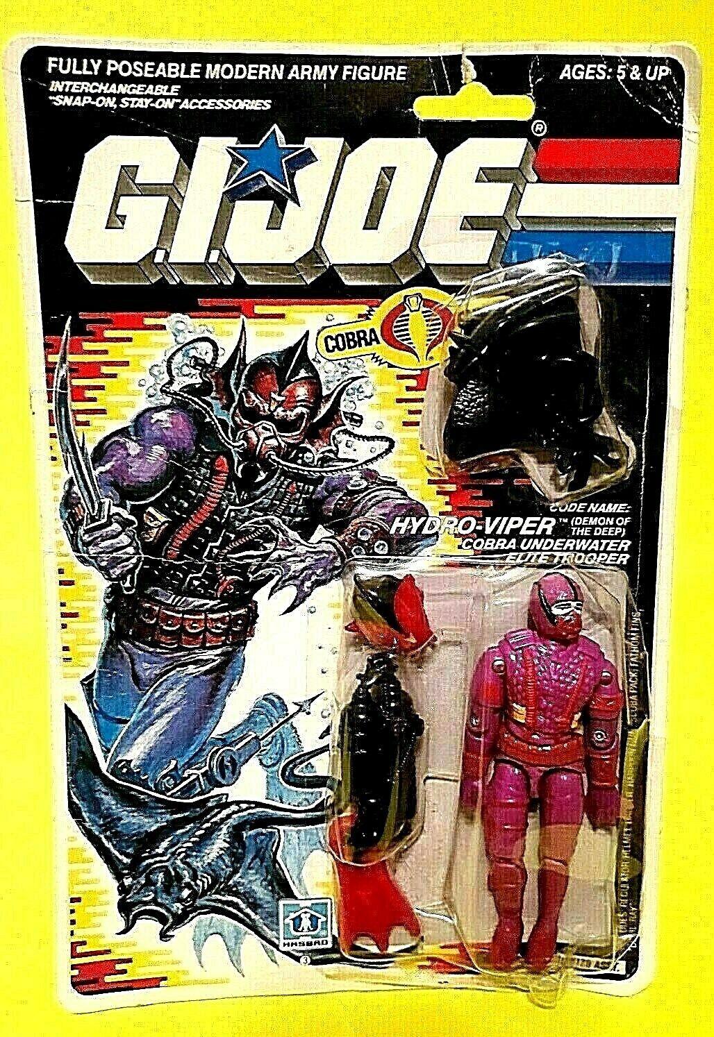 Vintage GI JOE HYDRO-VIPER Action Figure Cobra Trooper ARAH 1988 w Weapons Lot