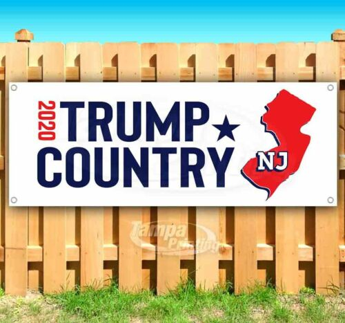 TRUMP COUNTRY NEW JERSEY 2020 Advertising Vinyl Banner Flag Sign ELECTION