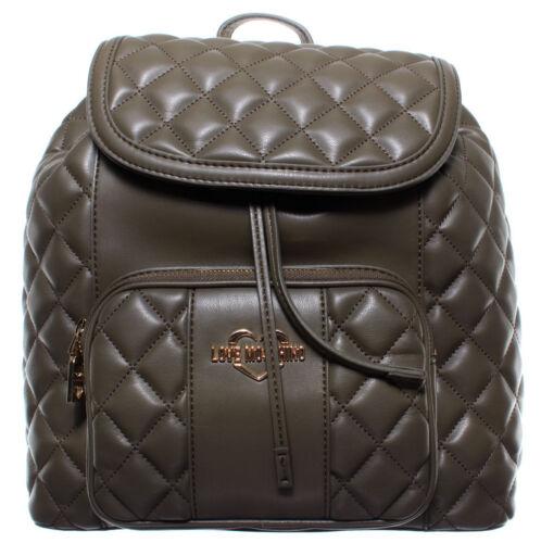 LOVE MOSCHINO Damen Taschen Rucksack JC4001PP16LA0850 Leder Pu Grün Neu