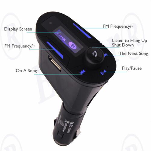 MP3 Player Wireless FM Transmitter Modulator Car Kit /& USB SD MMC LCD Remote