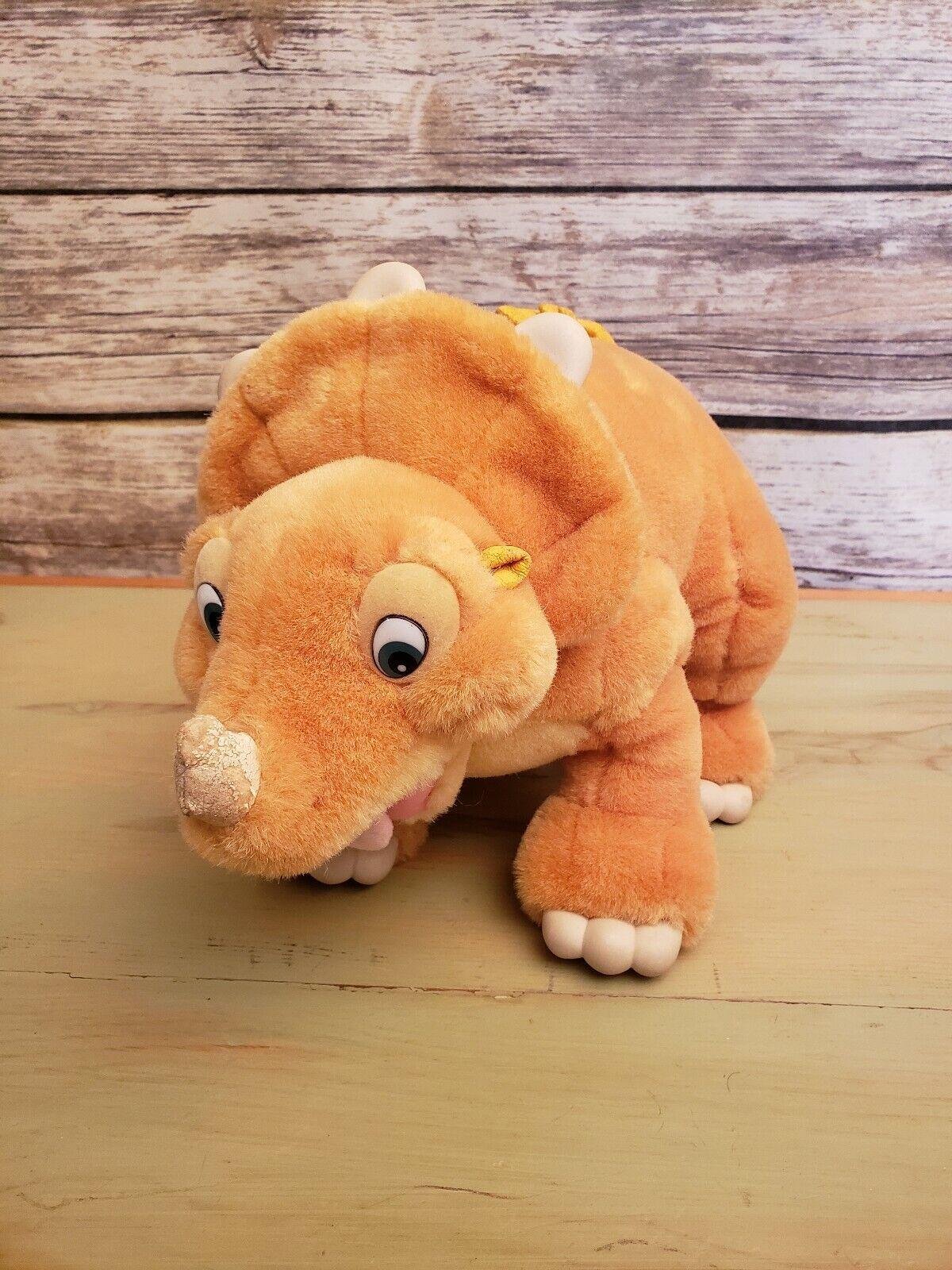 "1988 The Land Before Time Cera Plush Dinosaur Stuffed Animal Toy JC Penney - 15"""
