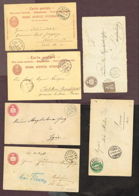 SWITZERLAND POSTAL HISTORY POSTCARDS STATIONERY ETC (BY1