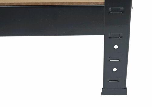 2x étagère pour charges lourdes HWC-D67 chargement 320kg 160x80x40cm