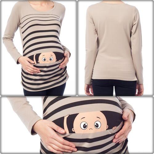 Umstandsmode Süße Sweatshirt mit Motiv Schwangerschaft Geschenk Cappuccino Bv1