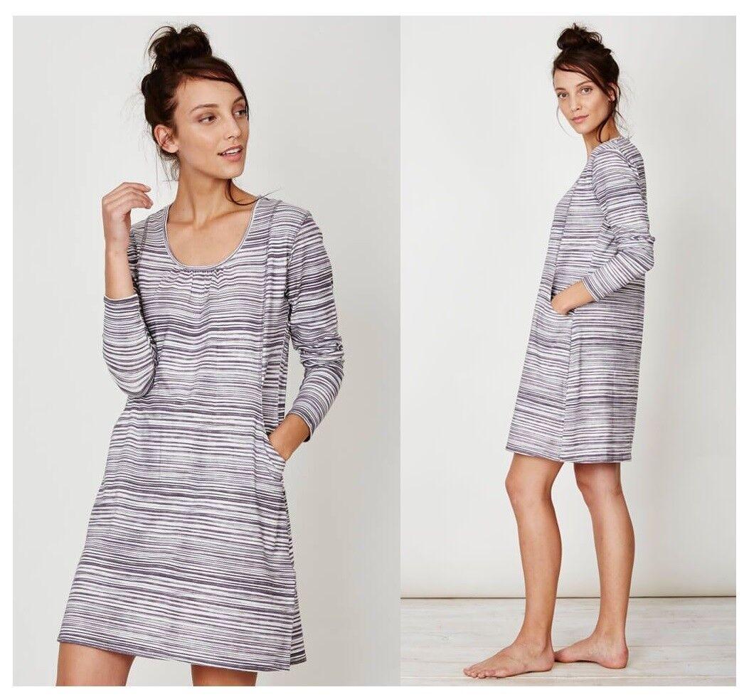 Thought Ziggy Bamboo Tunic Dress Kleid Bambus Streifen texturot stripe WST2974