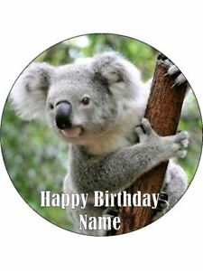 Sensational Koala Bear 19Cm Edible Icing Image Birthday Cake Topper Party Funny Birthday Cards Online Hetedamsfinfo