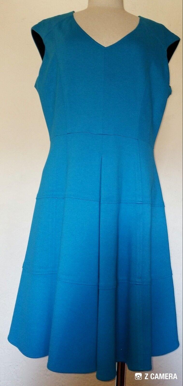 Nanette Lepore Turquoise Swing Dress Size 12