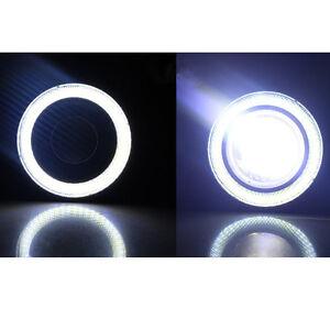 2Pc-3-5-034-COB-LED-Luz-de-Niebla-Proyector-Ojos-De-Angel-Blanco-Coche-Lampara-Halo-Anillo-DRL