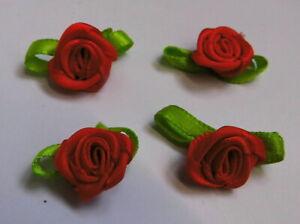 Set-a-4-Stueck-Rose-Rosen-Aufnaeher-Patch-Roses-Applikation-208