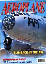 Aeroplane Monthly 1997 August Swift,TSR-2,Fox Moth