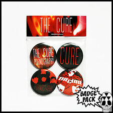 The Cure - Pornography Button Badge Pack - 4 x 25mm Button Badges