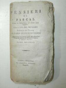 Raro-Introvabile-antico-libro-Pensieri-di-Pascal-1831