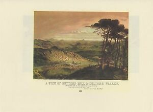 """1976 Vintage CALIFORNIA /""""SUTTERS MILL CULLOMA VALLEY/""""COLOMA COLOR Lithograph 103"""