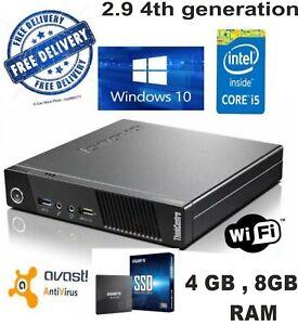 LENOVO-ThinkCentre-M73-Tiny-Intel-Pentium-Core-i5-8GB-RAM-240GB-SSD-WIN-10-Wi-Fi