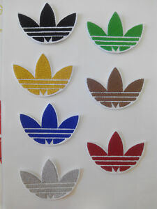 Perth Dejar abajo Diacrítico  Embroidered patch for gluing, Adidas-style 7,5/5,5 cm ornament clothes    eBay