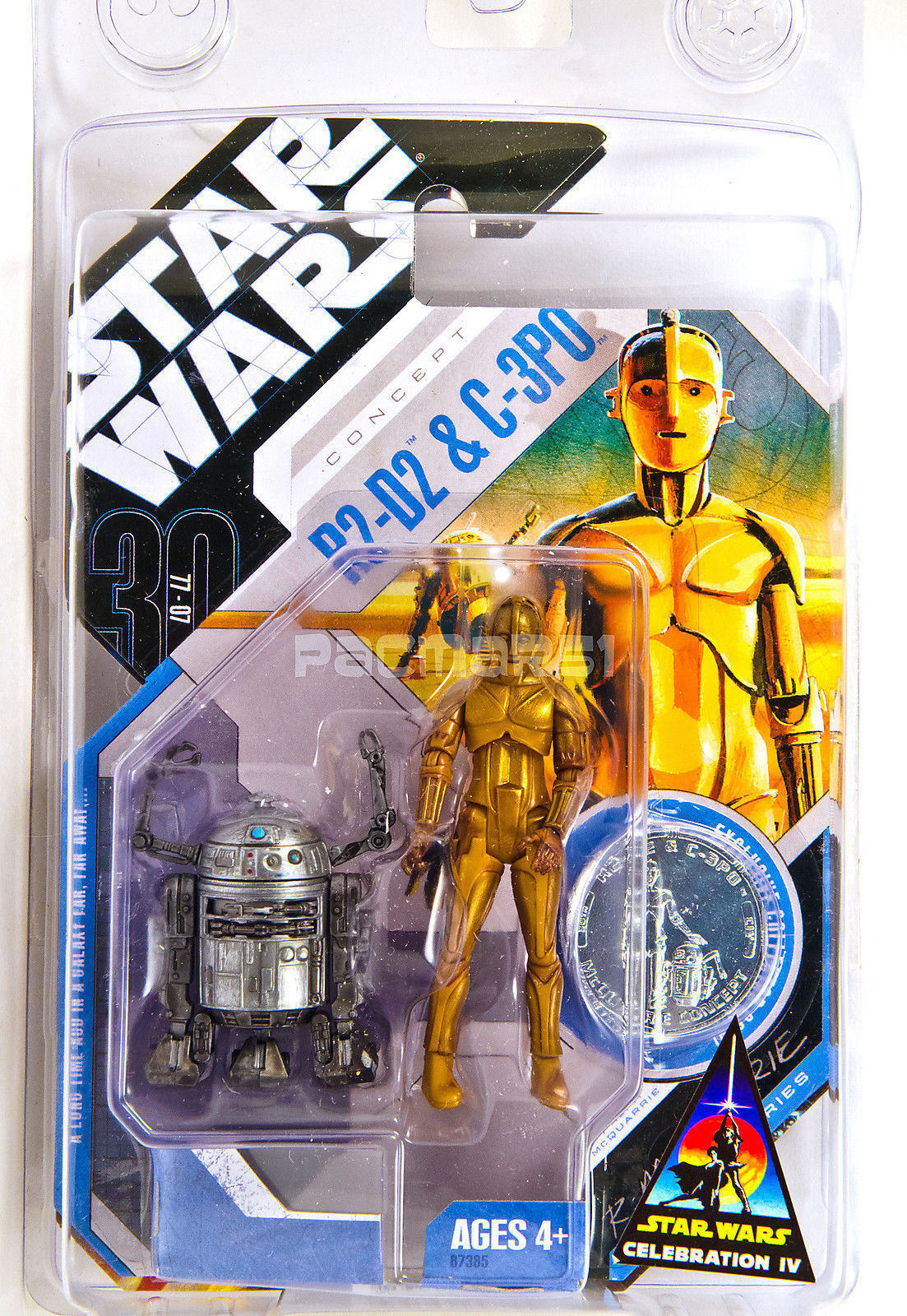 STAR WARS 30TH ANNIV MCQUARRIE CONCEPT 2007  Star Wars Celebration IV R2D2 C3PO