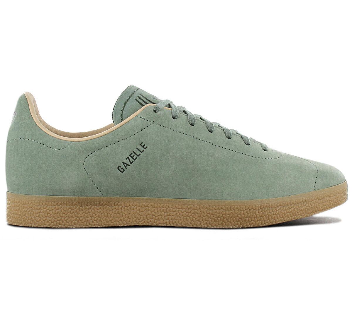 Adidas Originals Gazelle Leather Decon Turnschuhe CG3705 Schuhe Turnschuhe Grün NEU