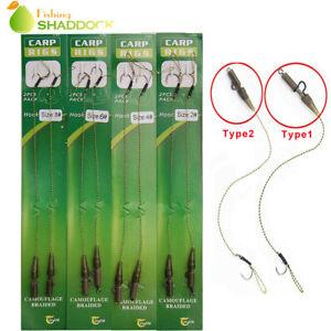 6-x-Hair-Rigs-Carp-Rig-Fishing-Terminal-Tackle-Kit-2-4-6-8-Ready-Made-Lead-Clip