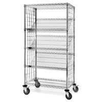 Slant Rack Wire Shelving 48w X 18d X 69h (height Includes Wheels) 1 Ea