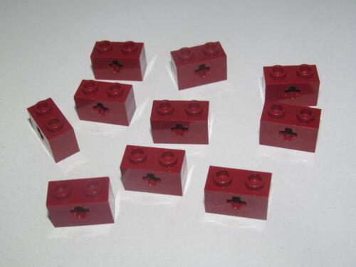 Lego ® Lot x10 Briques Perforée Croix 1x2 Brick Cross Choose Color 32064 NEW