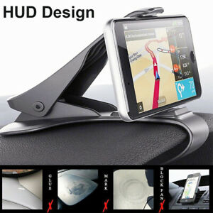 Universal GPS Dashboard Cell Phone Car Mount Holder Stand HUD Design Cradle Clip