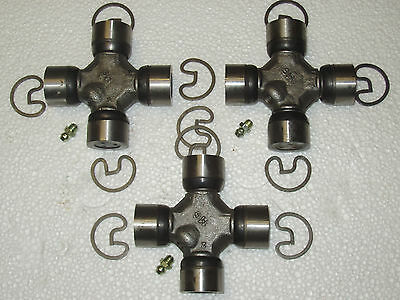 """/""""SET OF 3/"""" 05 06  FORD F350 PICK UP TRUCK U JOINTS 4X4 for the REAR DRIVESHAFT"""