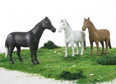 NEUF BRUDER TOYS Horse figures 1:16 Scale-Bruder 02306-3 Pk Noir Blanc Marron