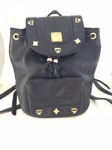 Details zu Original Mcm Tasche Rucksack Beuteltasche Echt Leder