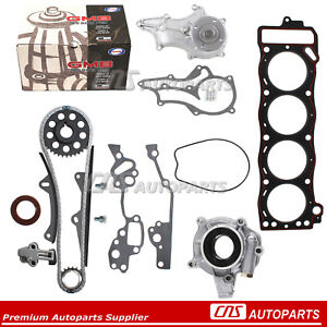 Timing-Chain-Kit-GMB-Water-Pump-Oil-Pump-Head-Gasket-For-85-95-TOYOTA-2-4L