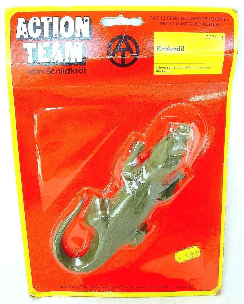 Action man team Crocodile Jungle Adventure 12  Poupée Accessoires Set En parfait état, dans sa boîte`75 RARE