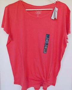 NWT-Gap-Women-039-s-Feather-T-Shirt-Top-Hibiscus-Lightweight-XS-S-Free-Shipping-New