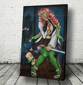New Mitsuri Demon Slayer Kimetsu No Yaiba Wall Art Canvas Sexy Cute Nezuko Anime Ebay The beauty of mitsuri kanroji. details about new mitsuri demon slayer kimetsu no yaiba wall art canvas sexy cute nezuko anime