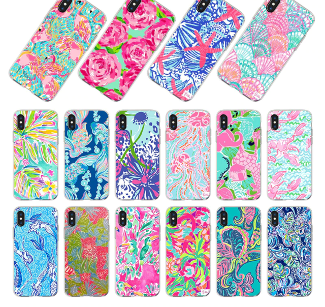 timeless design 82219 81dc3 Flamingo Pink Case For Apple Iphone 5 6 7 8plus X 10-Summer Lilly Pulitzer  Cover