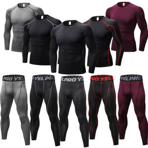 Men-039-s-Compression-Athletic-Tights-Athletic-Base-Layer-Workout-Gym-Dri-fit-Pants