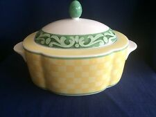 Villeroy & Boch/Gallo Switch Summerhouse oval lidded vegetable serving bowl