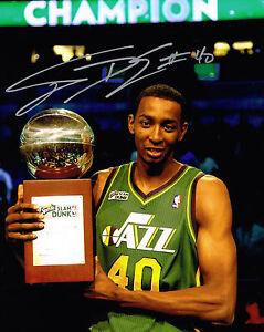 Sports Mem, Cards & Fan Shop Humorous Jeremy Evans Signed Utah Jazz 8x10 Slam Dunk Trophy Photo Coa