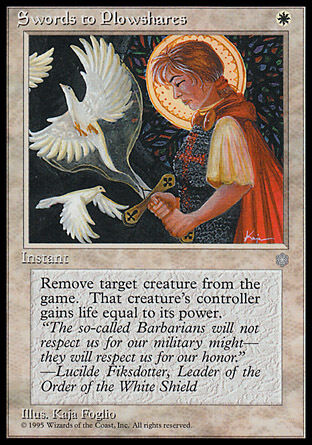 1x Swords to Plowshares Ice Age MtG Magic White Uncommon 1 x1 Card Cards