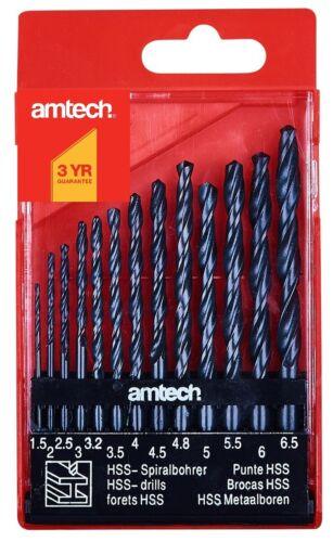 13pc HSS Drill Bit Set High Speed Small Metal Wood Plastic 1.5 6.5mm Storage