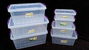 Small Medium Large Clip Lock Plastic Clear Storage Food